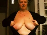 dutch granny showing off her gorgeous boobs
