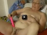 old granny playing with sextoy